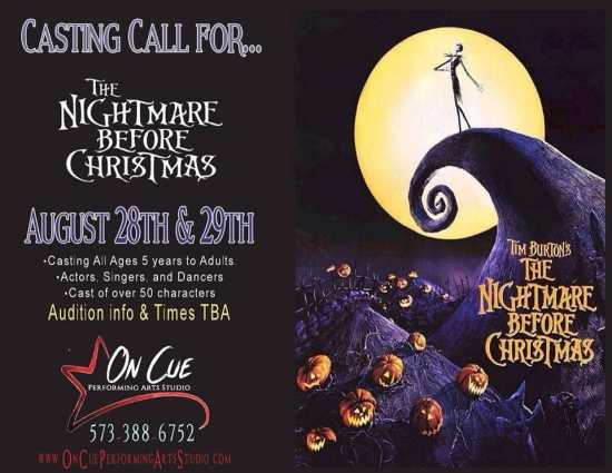 Auditions for Nightmare Before Christmas (Ages 5 to Adults ...