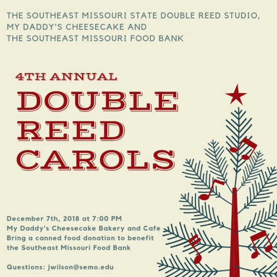 Double Reed Carols and Canned Food Drive | SemoEvents com