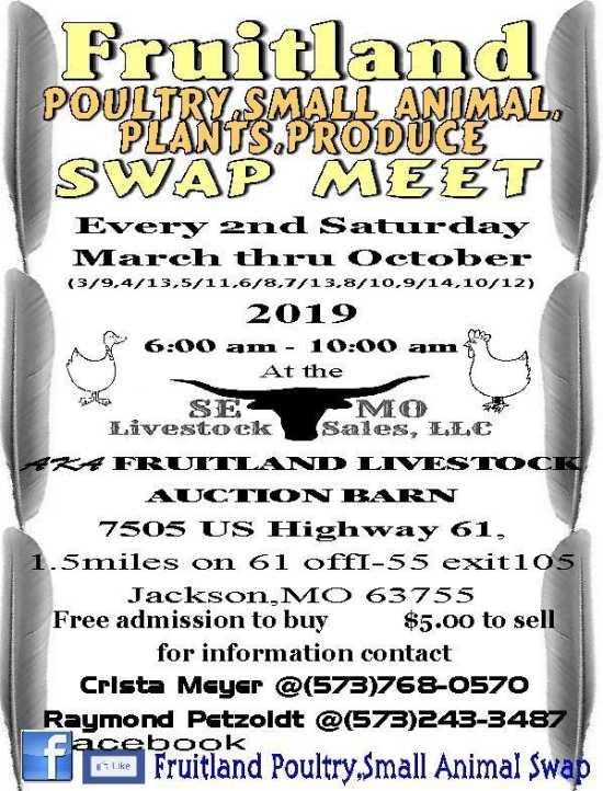 Fruitland Poultry Sale and Swap Meet | SemoEvents com