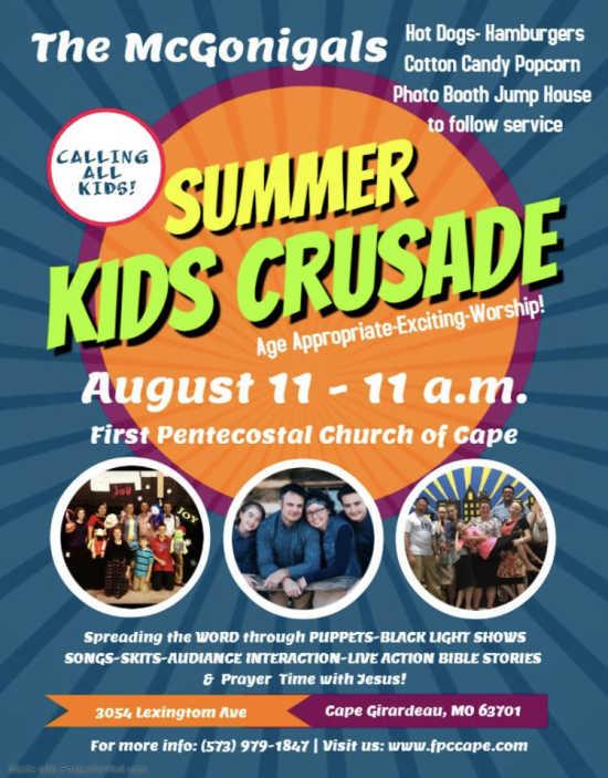 Kid's Summer Crusade | SemoEvents com
